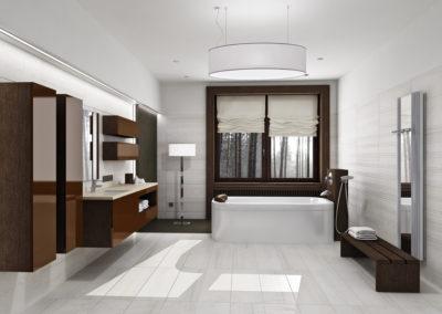 Modern bathroom interior in daylight