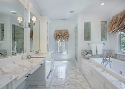 Master bath with marble counters